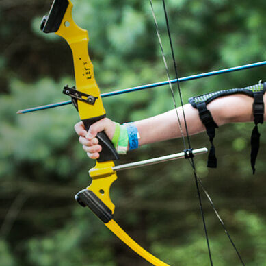 Picture of a bow and arrow at a 4-H Camp